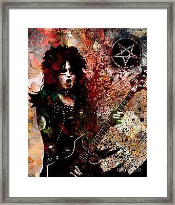 Nikki Sixx - Motley Crue  Framed Print by Ryan Rock Artist