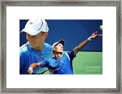 Nikolay Davydenko Framed Print by Nishanth Gopinathan