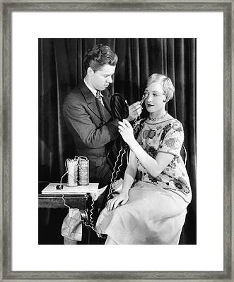 Nilsson Gets Lashes Curled Framed Print by Underwood Archives