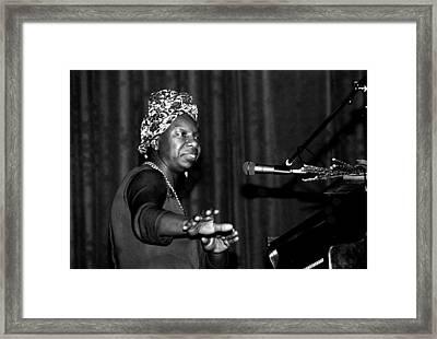 Nina Simone Framed Print by Nomad Art