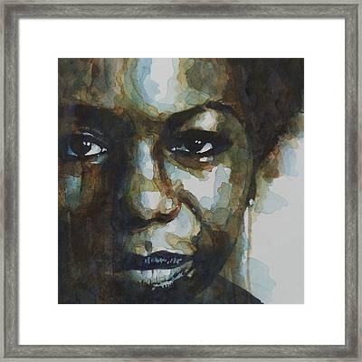 Nina Simone Framed Print by Paul Lovering