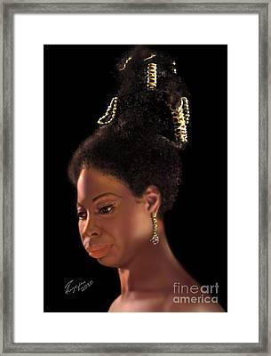 Nina Simone Framed Print by Reggie Duffie