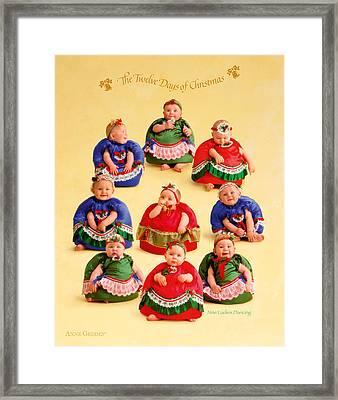 Nine Ladies Dancing Framed Print by Anne Geddes