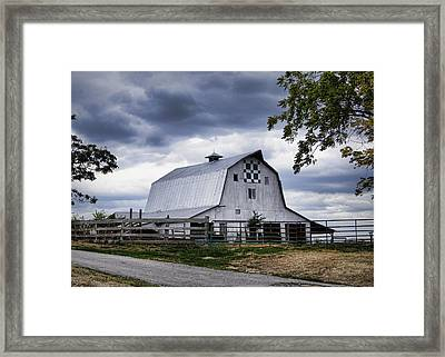 Nine Patch Quilt Barn Framed Print by Cricket Hackmann