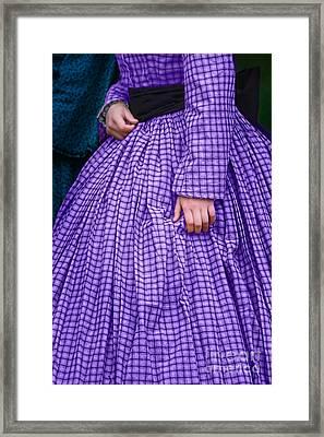 Ninetenth Century Woman In Purple Framed Print by Stephanie Frey