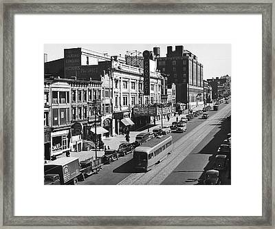 Ninth Street In Brooklyn Framed Print by Underwood Archives