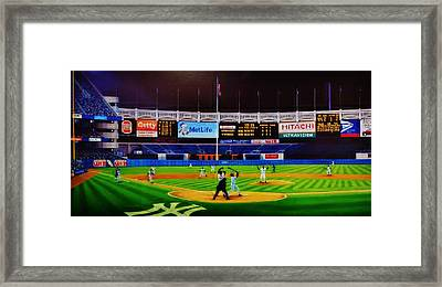 Ninty-six Pinstripe No-no Framed Print by Thomas  Kolendra