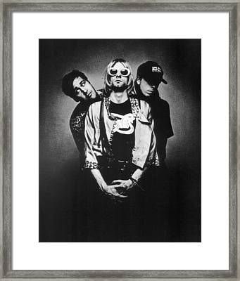 Nirvana Band Framed Print by Retro Images Archive