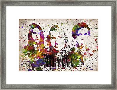 Nirvana In Color Framed Print by Aged Pixel
