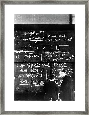 Nishina Yoshio And Niels Bohr Framed Print by Nishina Memorial Foundation, Courtesy Aip Emilo Segre Visual Archives