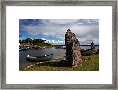 Nishmicatreer Island In Lough Corrib Framed Print by Panoramic Images