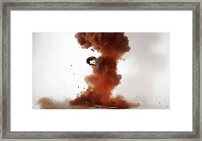 Nitrogen Triiodide Detonating (4 Of 4) Framed Print by Science Photo Library