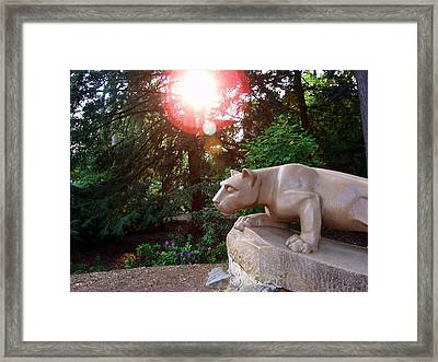 Nittany Lion At Sunset Framed Print by William Ames