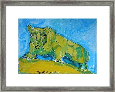 Nittany Lion Framed Print by Pj T