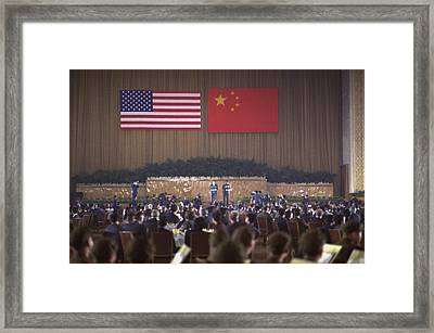 Nixon In China. Overview Of The State Framed Print by Everett