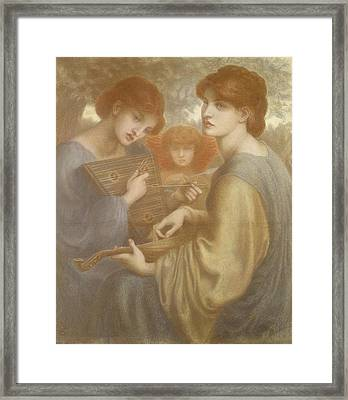 No. 1011 Study For The Bower Meadow Framed Print by Dante Gabriel Charles Rossetti