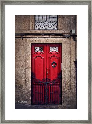 No. 24 - The Red Door Framed Print by Mary Machare