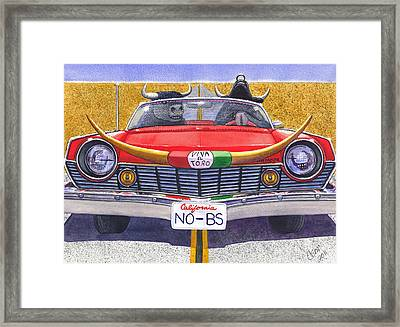 No B.s. Framed Print by Catherine G McElroy