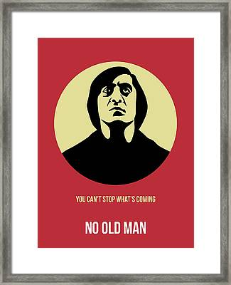 No Country For Old Man Poster 3 Framed Print by Naxart Studio