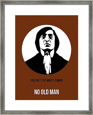 No Country For Old Man Poster 4 Framed Print by Naxart Studio