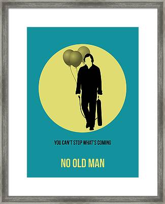 No Country For Old Man Poster 5 Framed Print by Naxart Studio