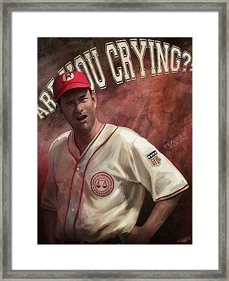 No Crying In Baseball Framed Print by Steve Goad