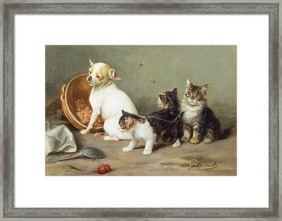 No Flies On Me Framed Print by Louis Eugene Lambert