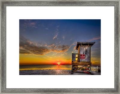 No Life Guard On Duty Framed Print by Marvin Spates