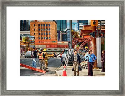No Parking Anytime Framed Print by Trever Miller