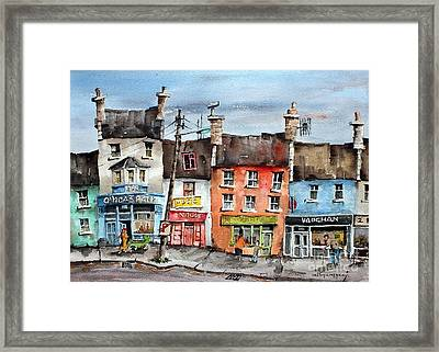 Clare  No Parking In Ireland Framed Print by Val Byrne