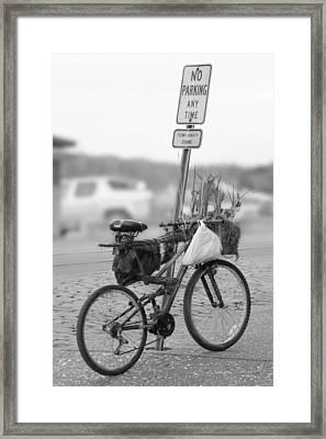 No Parking Framed Print by Mike McGlothlen