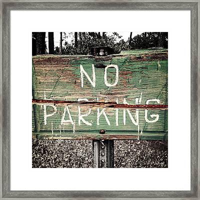 No Parking Framed Print by Scott Pellegrin