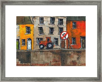 No Parking Framed Print by Val Byrne
