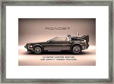 No Roads Framed Print by Patrick Charbonneau
