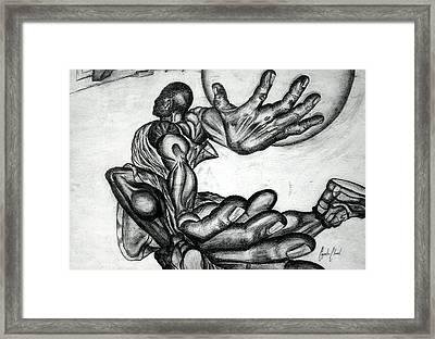 No Wings Needed Framed Print by Cepada Cloud