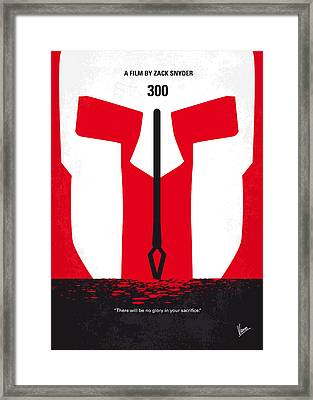 No001 My 300 Minimal Movie Poster Framed Print by Chungkong Art