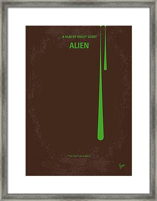 No004 My Alien Minimal Movie Poster Framed Print by Chungkong Art