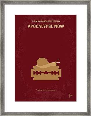 No006 My Apocalypse Now Minimal Movie Poster Framed Print by Chungkong Art