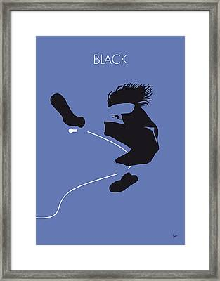 No008 My Pearl Jam Minimal Music Poster Framed Print by Chungkong Art