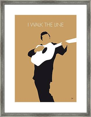 No010 My Johnny Cash Minimal Music Poster Framed Print by Chungkong Art