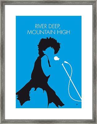 No019 My Tina Turner Minimal Music Poster Framed Print by Chungkong Art