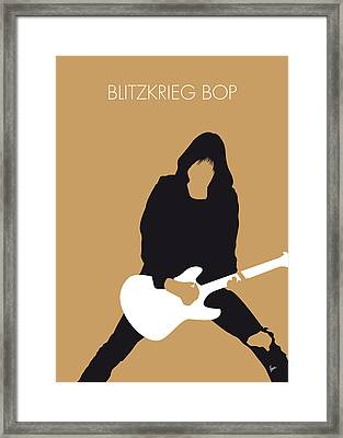 No020 My Ramones Minimal Music Poster Framed Print by Chungkong Art