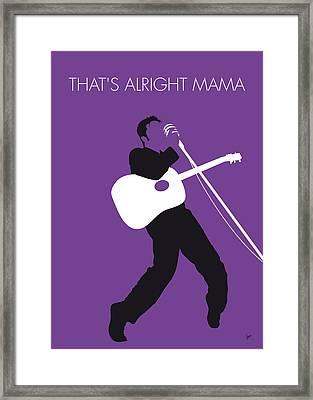 No021 My Elvis Minimal Music Poster Framed Print by Chungkong Art