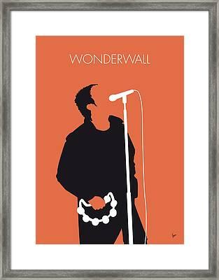 No023 My Oasis Minimal Music Poster Framed Print by Chungkong Art