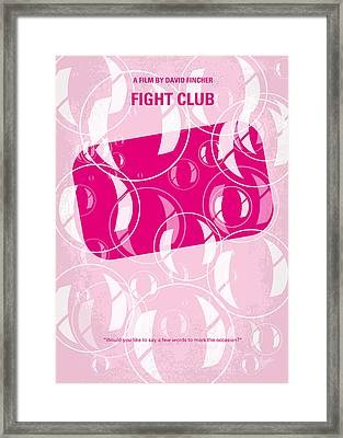 No027 My Fight Club Minimal Movie Poster Framed Print by Chungkong Art