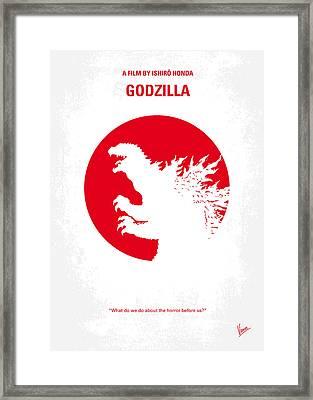 No029-2 My Godzilla 1954 Minimal Movie Poster.jpg Framed Print by Chungkong Art