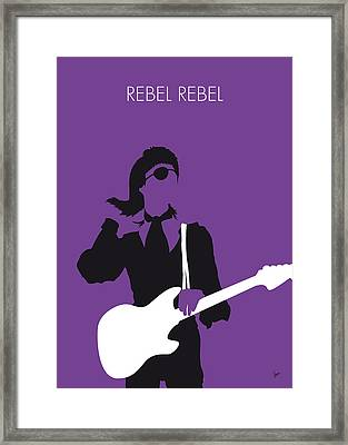 No031 My Bowie Minimal Music Poster Framed Print by Chungkong Art