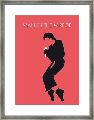 No032 My Michael Jackson Minimal Music Poster Framed Print by Chungkong Art