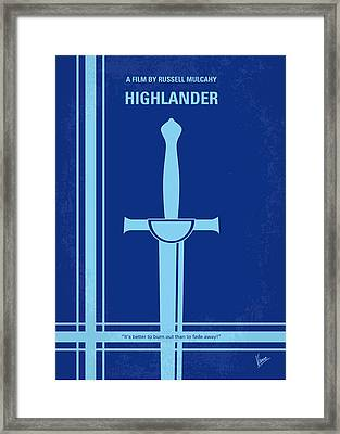 No034 My Highlander Minimal Movie Poster.jpg Framed Print by Chungkong Art