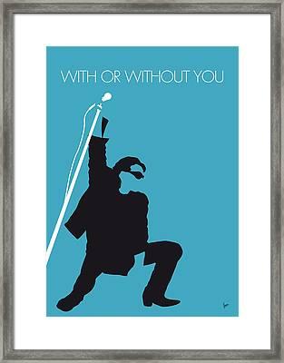 No035 My U2 Minimal Music Poster Framed Print by Chungkong Art